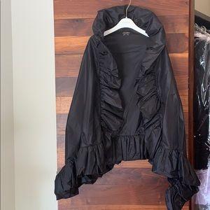"Escada black ""one of a kind"" high collar cape"